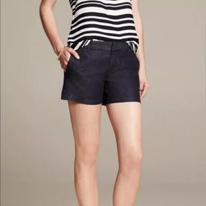 Banana Republic Womens 6 Hampton Fit Navy Shorts